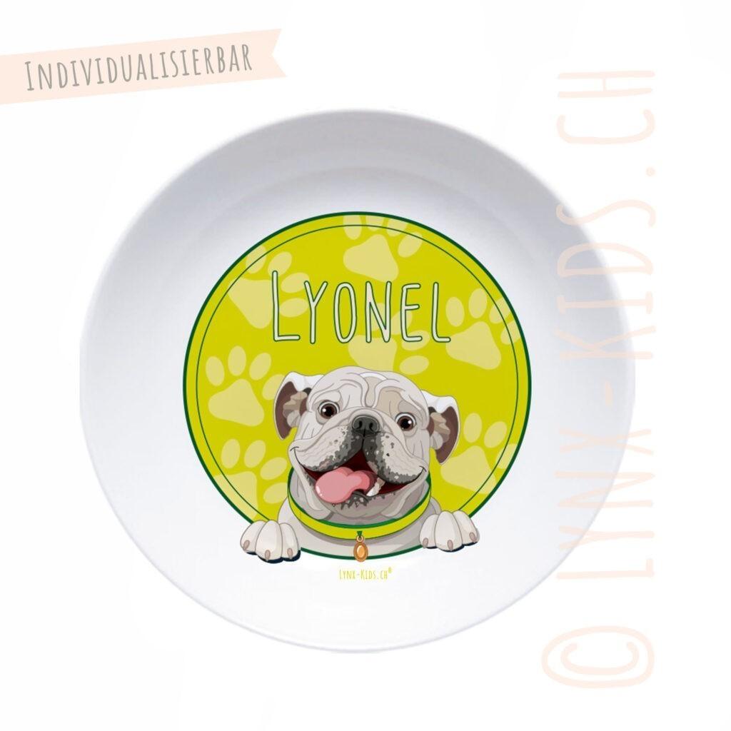 Personalisierte Melamin Kinder Schale – Hund