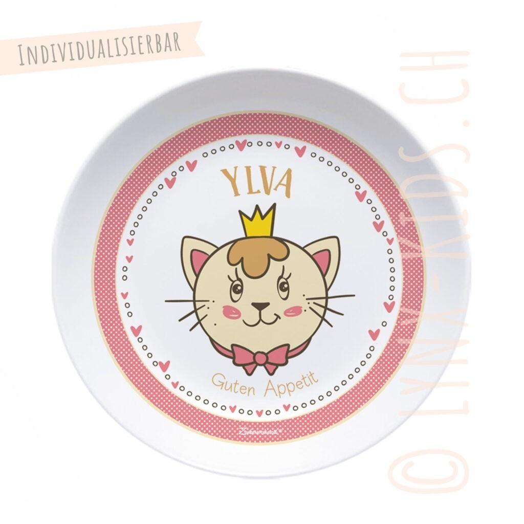 Personalisierte Melamin Kinder Schale – Katze